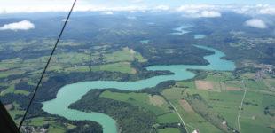 Survol et visite de la Rivière de la Baume